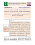 Effect of weed and nutrient management on the growth and yield of barley (Hordeum vulgare L.) and associated weeds