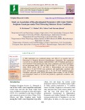 Study on association of bio-physiological parameters with grain yield in sorghum genotypes under post flowering moisture stress conditions