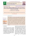 Effect of foliar application of different sources and levels of calcium on physico-chemical properties of harvested soil and correlation of calcium nutrition with fruit quality