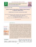 Nutrient content in grain and straw of different wheat genotypes as affected by moisture stress