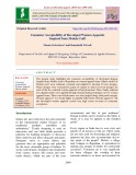 Consumer acceptability of developed women apparels inspired from Molela Craft