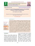 Response of growth, yield and quality parameters of foxtail millet genotypes to different planting density
