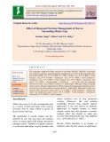 Effect of integrated nutrient management of oat on succeeding maize crop