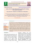 Studies of the perception of respondents regarding KVK training intervention in agriculture