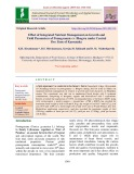 Effect of integrated nutrient management on growth and yield parameters of pomegranate cv. Bhagwa under central dry zone of Karnataka