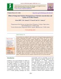Effect of integrated nutrient management on nutrient concentration and uptake in grafted tomato