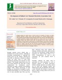 Development of bullock cart mounted electricity generation unit