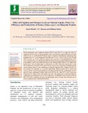Effect of irrigation and nitrogen levels on nutrient uptake, water use efficiency and productivity of onion (Allium cepa L.) in himachal Pradesh