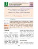 Screening of promising genotypes of clusterbean against Colletotrichum Capsici under field condition