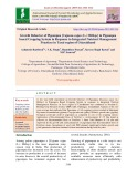 Growth behavior of Pigeonpea [Cajanus cajan (L.) Millsp.] in Pigeonpea based cropping system in response to integrated nutrient management practices in Tarai region of Uttarakhand