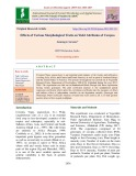 Effects of various morphological traits on yield attributes of cowpea