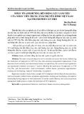 Nhân tố ảnh hưởng đến động lực làm việc của nhân viên Trung tâm Truyền hình Việt Nam tại thành phố Cần Thơ