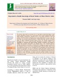 Reproductive health knowledge of rural mothers of Hisar district, India