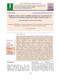 Qualitative traits, genetic variability and character association for the potential use in breeding programme of mango (Mangifera indica L.)