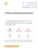 So sánh phần mềm SuiteCRM và phần mềm Dynamic CRM
