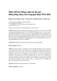 Phát triển hệ thống canh tác lúa gạo Đồng bằng sông Cửu Long giai đoạn 1976-2016