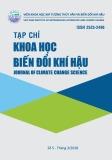 Tạp chí Khoa học Biến đổi khí hậu: Số 5/2018