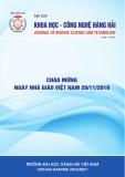 Tạp chí Khoa học - Công nghệ hàng hải: Số 60/2019