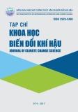 Tạp chí Khoa học Biến đổi khí hậu: Số 4/2017