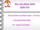 Bài giảng Tâm lí học đại cương - GV. Nguyễn Thị Minh