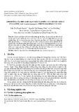 Ảnh hưởng của điều kiện hạn nhân tạo đến các chỉ tiêu sinh lí của 6 giống lạc (Arachis hypogea L.) trong giai đoạn cây con