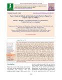 Faster chemical methods to determine genetic purity in pigeon pea (Cajanus cajan (L.) Mill sp.)