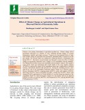 Effect of climate change on agricultural operations in Dharwad district of Karnataka, India