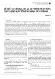 Đề xuất cơ sở khoa học và quy trình phân vùng chất lượng nước sông theo mục đích sử dụng