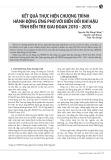 Kết quả thực hiện chương trình hành động ứng phó với biến đổi khí hậu tỉnh Bến Tre giai đoạn 2010-2015