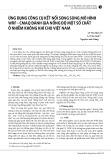 Ứng dụng công cụ kết nối song song mô hình WRF - CMAQ đánh giá nồng độ một số chất ô nhiễm không khí cho Việt Nam
