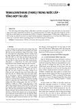 Trihalomethane (THMS) trong nước cấp - tổng hợp tài liệu