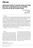Những mâu thuẫn và xung đột trong quá trình khai thác tài nguyên du lịch và sa khoáng titan khu vực đới bờ tỉnh Bình Thuận