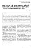 Nghiên cứu đề xuất mạng lưới quan trắc chất lượng nước mặt tại tỉnh Vĩnh Long giai đoạn 2019-2025, định hướng đến năm 2030