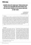Nghiên cứu xây dựng quy trình đánh giá rủi ro cây ngô biến đổi gen kháng sâu đối với môi trường và đa dạng sinh học ở Việt Nam