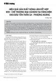 Hiệu quả sản xuất nông lâm kết hợp keo – chè thương mại cácbon tại vùng đệm khu bảo tồn Thần Sa – Phượng Hoàng