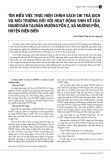 Tìm hiểu việc thực hiện chính sách chi trả dịch vụ môi trường đối với hoạt động sinh kế của người dân tại bản Mường Pồn 2, xã Mường Pồn, huyện Điện Biên