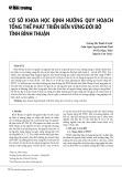Cơ sở khoa học định hướng quy hoạch tổng thể phát triển bền vững đới bờ tỉnh Bình Thuận
