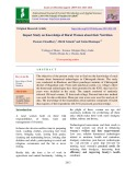 Impact study on knowledge of rural women about their nutrition