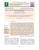Influence of plant spacing and weed management practices on the growth and yield of hybrid maize