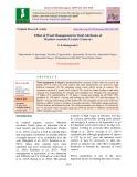 Effect of weed management in yield attributes of Manihot Esculenta Crantz (Cassava)