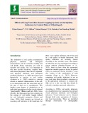 Effects of long term rice-based cropping systems on soil quality indicators in central plain of Chhattisgarh