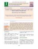 Variability analysis in cassava (Manihot esculenta Crantz) under coastal salinity conditions of Karaikal, India