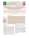 Effects of multi-micronutrient mixture on growth, yield and quality of the summer pearl millet (Pennisetum glaucum L.)