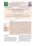 Analyses of post harvest management practices of sericulture entrepreneur in Raichur, India