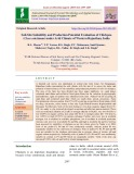 Soil-site suitability and production potential evaluation of chickpea (Cicer arietinum) under arid climate of western Rajasthan, india