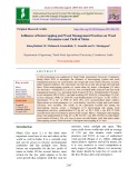 Influence of intercropping and weed management practices on weed parameters and yield of maize