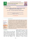 Comparative efficacy of herbicides applied in wheat and their residual effect on the succeeding crops