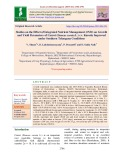 Studies on the effect of integrated nutrient management (INM) on growth and yield parameters of carrot (Daucas carota L.) cv. Kuroda improved under southern Telangana conditions