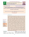 Analysis of pesticide residues on crops with related health impact on farmers in agriculture field of Sikrai Tehsil, Dausa district, Rajasthan, India