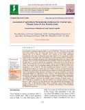 Assessment of agricultural mechanization indicators for central AgroClimatic Zone of Uttar Pradesh, India